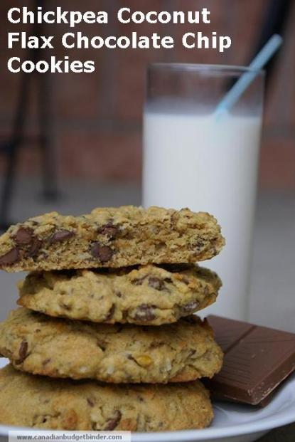 chickpea-coconut-flax-chocolate-chip-cookies