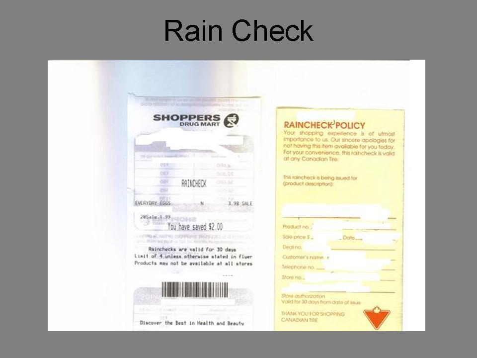 Raincheck-example