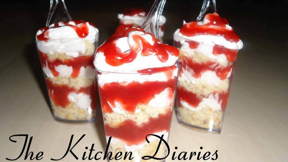vanilla strawberry trifle