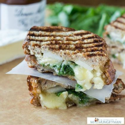 Brie-fig-pear-panini