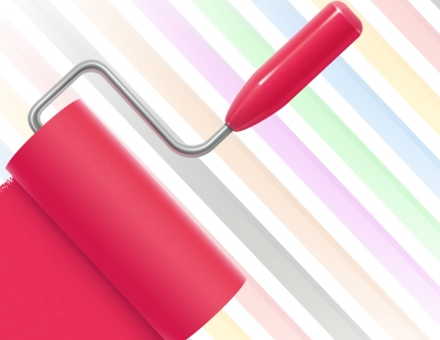 pink-paint-on-roller