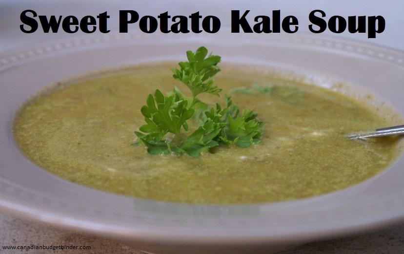 Sweet potato kale soup - Canadian Budget Binder